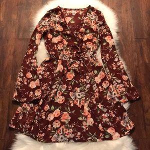 The gorgeous floral mini dress